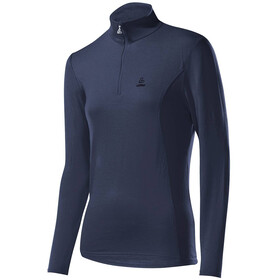 Löffler Basic Transtex Sweat-shirt Zip avec col montant Femme, graphite